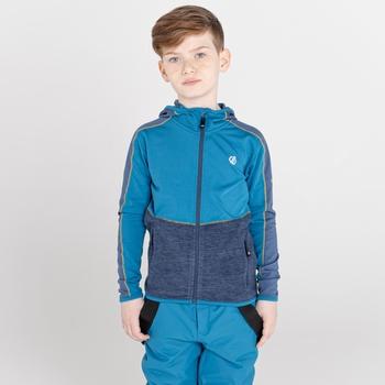 Hasty III Core Stretch-Midlayer mit Kapuze und durchgehendem Reißverschluss für Kinder Blau