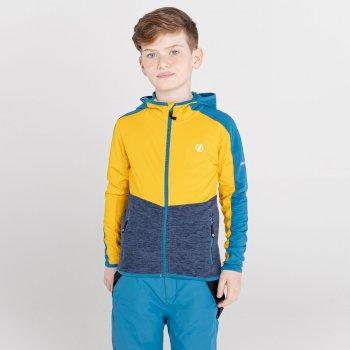 Hasty III Core Stretch-Midlayer mit Kapuze und durchgehendem Reißverschluss für Kinder Gelb