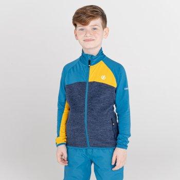 Except III Core Stretch-Midlayer mit durchgehendem Reißverschluss für Kinder Blau