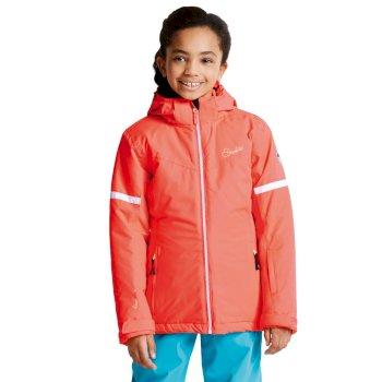 Kids Obscure Ski Jacket Fiery Coral