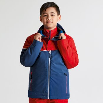 9ecbd4ee Dare2b Kids Debut Ski Jacket Code Red Texture Admiral Blue