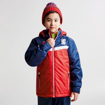 Dare2b Kids Start Out Ski Jacket Code Red Texture Admiral Blue