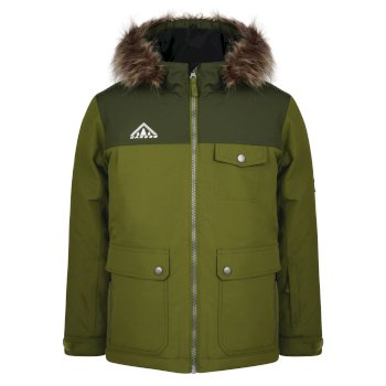 Dare2b Kids Reckless Waterproof Insulated Ski Jacket Mantis Green Racing Green
