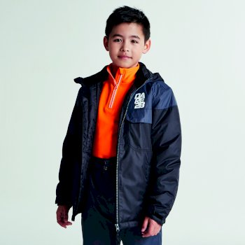 Dare2b Kids Tyke Ski Jacket Black Ebony Grey