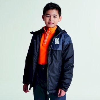 Dare2b Kids Tyke Ski Jacket Black Ebony Grey