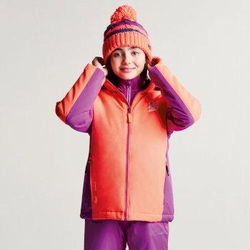 Dare2b Kids Quell Ski Jacket Fiery Coral Ultra Violet Purple