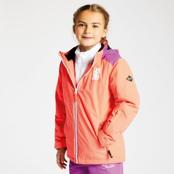 Dare2b Kids External Ski Jacket Ultra Violet Purple Fiery Coral