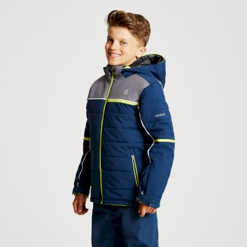 Initiator - Kinder Skijacke Admiral Blue Aluminium Grey