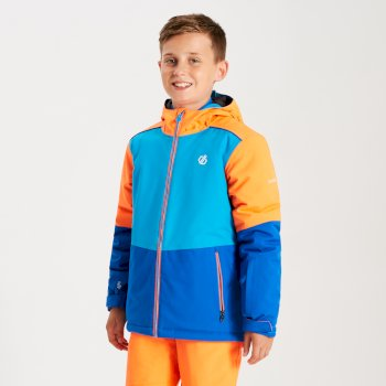 Aviate - Kinder Skijacke Oxford Blue Atlantic Blue Vibrant Orange