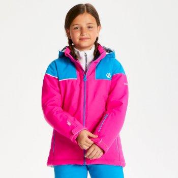 Entail - Kinder Skijacke Cyberpink/Atlantikblau