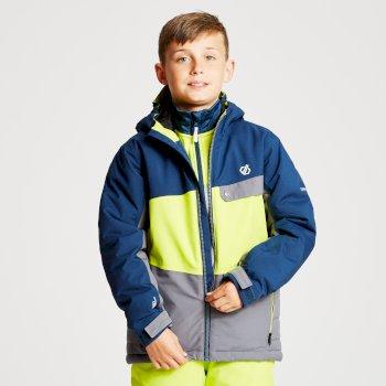 Wrest - Kinder Skijacke Aluminiumgrau/Limone/Admiralblau