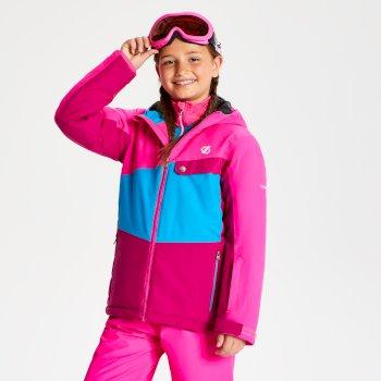 Wrest - Kinder Skijacke Fuchsia/Atlantikblau/Cyberpink