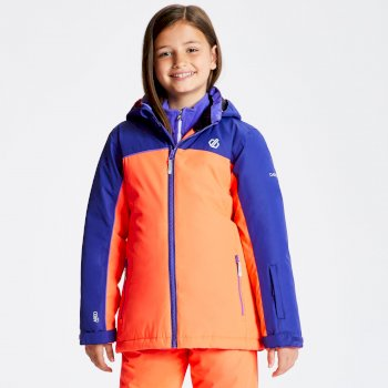 Legit - Kinder Skijacke Fiery Coral Spectrum Blue