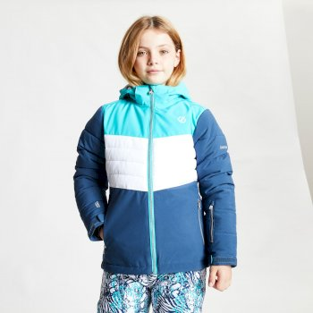 Freeze Up wasserdichte, isolierte Skijacke mit Kapuze für Kinder Blau