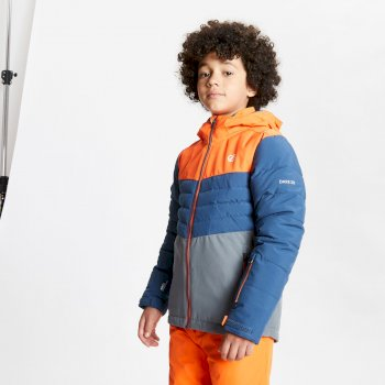 Freeze Up wasserdichte, isolierte Skijacke mit Kapuze für Kinder Orange