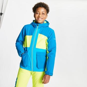 Esteem wasserdichte, isolierte Skijacke mit Kapuze für Kinder Blau