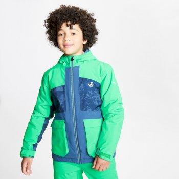 Esteem wasserdichte, isolierte Skijacke mit Kapuze für Kinder Grün