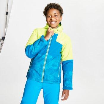 Cavalier wasserdichte, isolierte Skijacke mit Kapuze für Kinder Gelb