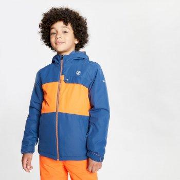 Enigmatic wasserdichte, isolierte Skijacke mit Kapuze für Kinder Blau