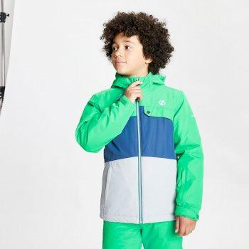 Enigmatic wasserdichte, isolierte Skijacke mit Kapuze für Kinder Grün