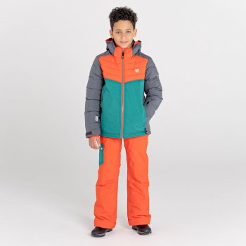 Cheerful wasserdichte, isolierte Skijacke für Kinder Grau