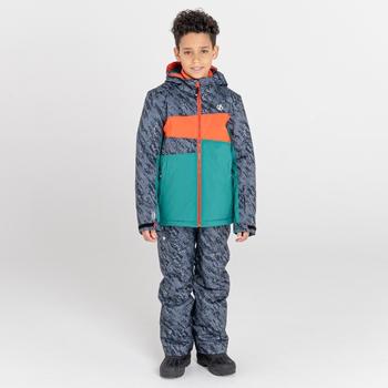 Humour wasserdichte, isolierte Skijacke für Kinder Schwarz