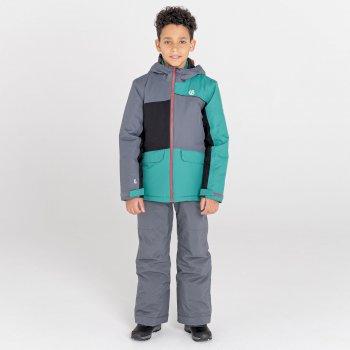 Remarkable wasserdichte, isolierte Skijacke für Kinder Grau