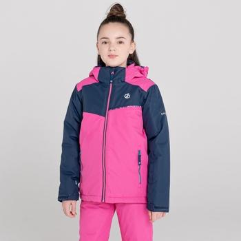 Impose II wasserdichte, isolierte Skijacke für Kinder Rosa