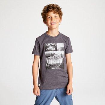 Frenzy T-Shirt für Kinder grau mit Aufdruck Fahrrad