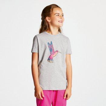 Frenzy T-Shirt für Kinder grau mit Aufdruck Vogel