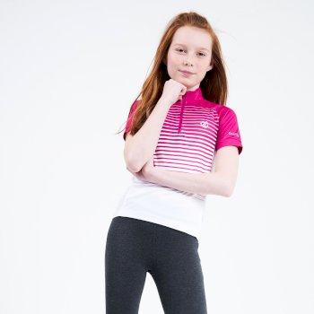 Go Faster Radtrikot Mit Halbem Reißverschluss Für Kinder Rosa