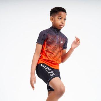 Go Faster Radtrikot mit halbem Reißverschluss für Kinder Grau