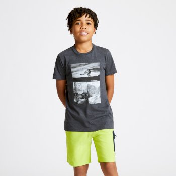 Go Beyond Graphic T-Shirt Für Kinder Grau
