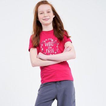 Go Beyond Graphic T-Shirt Für Kinder Rosa