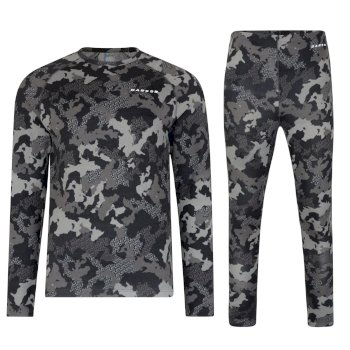 Dare2b Kids Division Base Layer Set Ebony Grey Camo Print