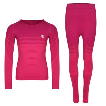 In The Zone - Kinder Baselayer-Set Cyber Pink Gradient