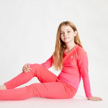 Dare 2b Kids' Elate Base Layer Set - Neon Pink