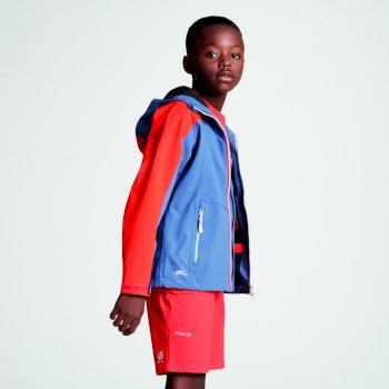 Avail Seamsmart - Kinder Jacke mit Kapuze - wasserdicht Meteor-Grau/Orangerot