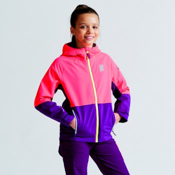 Dare2b Kids Modulate Jacket Neon Pink/Blackcurrant