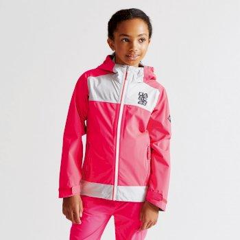 Kids Renounce Jacket Neon Pink/Cyberspace