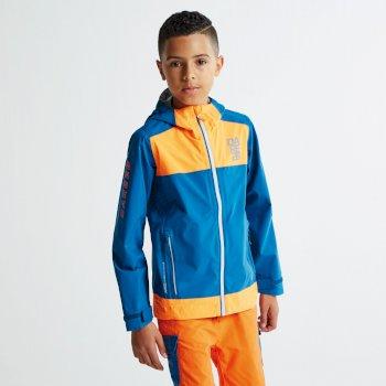 Kids Renounce Jacket Kingfisher/Shocking Orange