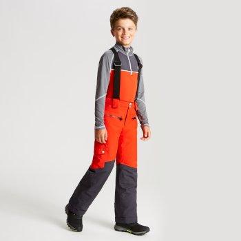 Timeout - Kinder Skihose Feuriges Rot/Tiefschwarz