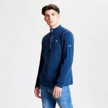 Freethink - Herren Pullover - Reißverschluss - leichtes Fleece Admiralblau