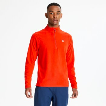 Dare2b Men's Freethink Half Zip Lightweight Fleece - Fiery Red