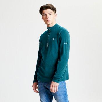 Freethink - Herren Pullover - Reißverschluss - leichtes Fleece Ozeanblau