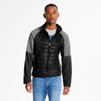 Sparked - Herren Midlayer-Jacke - Stretchmaterial Black Charcoal