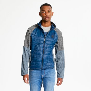 Sparked - Herren Midlayer-Jacke - Stretchmaterial Admiral Blue Charcoal