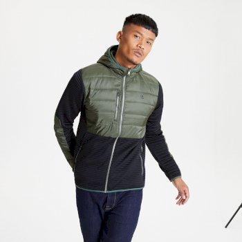 Jenson Button Kollektion - Narrative Hybrid Isoliertes Sweatshirt Mit Durchgehendem Reißverschluss Und Kapuze Für Herren Grün