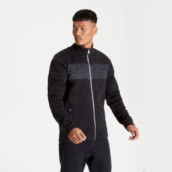 Inclose Fleece-Sweatshirt mit durchgehendem Reißverschluss für Herren Schwarz