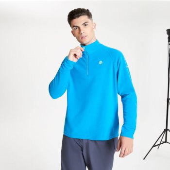 Freethink II Fleece mit halblangem Reißverschluss für Herren Blau